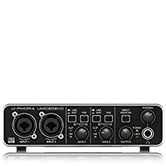 2x2 USB 2.0 audio interface for recording microphones and instruments Audiophile 24-Bit/192 kHz resolution for professional audio quality Compatible with popular recording software including Avid Pro Tools*, Ableton Live*, Steinberg Cubase*, etc. Str...