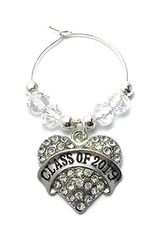 Libby's Market Place Class of 2019 Graduation Glass Charm on a Display Card and Graduation Gift Card