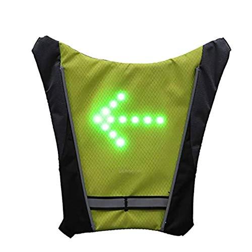 ShangSky Gilet ad Alta visibilità, Zaino Riflettente per Ciclismo, Indicatore Luminoso di Segnalazione Telecomando LED Bici Gilet, per Escursioni in Bicicletta Allaperto