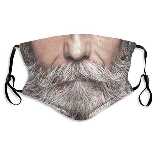 JunTaoic Funny Beard Windproof Fashion Dust Mouth Cover Protect Comfy Reusable Comfortable Breathable Outdoor Balaclava for Running and Cycling Unisex