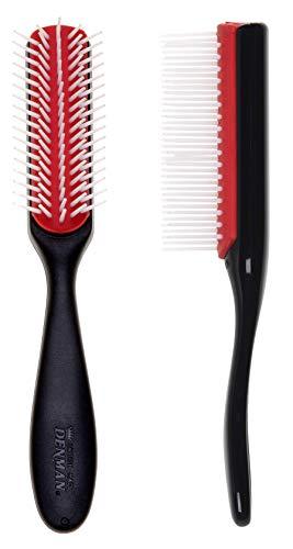 Denman Haarbürste D143, mit weißen Borsten und abnehmbarem Luftkissen, 5-reihig
