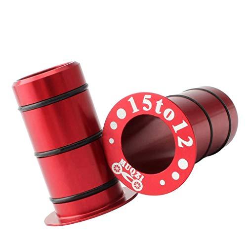 chiwanji Adaptador de Eje de Barril de Tubo de Buje Delantero de 2 Piezas Reductor de Tamaño de 15 Mm a 12 Mm - Rojo, 30mm