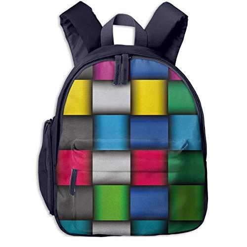 Mochilas Infantiles, Bolsa Mochila Niño Mochila Bebe Guarderia Mochila Escolar con 212 geométricos