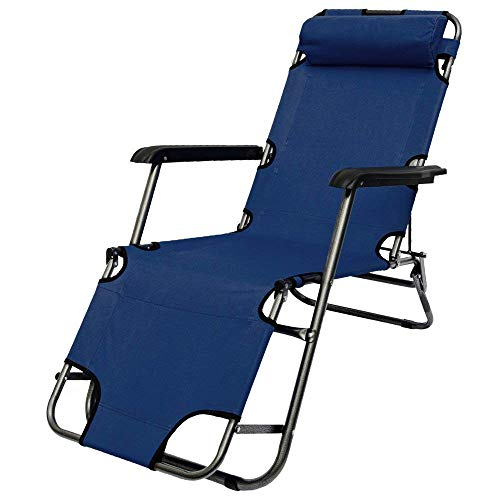 AMANKA Campingstuhl 153x60cm Liegestuhl Sonnenliege Strandliege Campingliege Klappliege Liege Blau