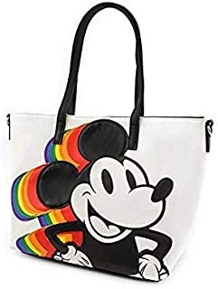 cb54ee636 Loungefly x Disney Rainbow Mickey Mouse Convertible Handbag