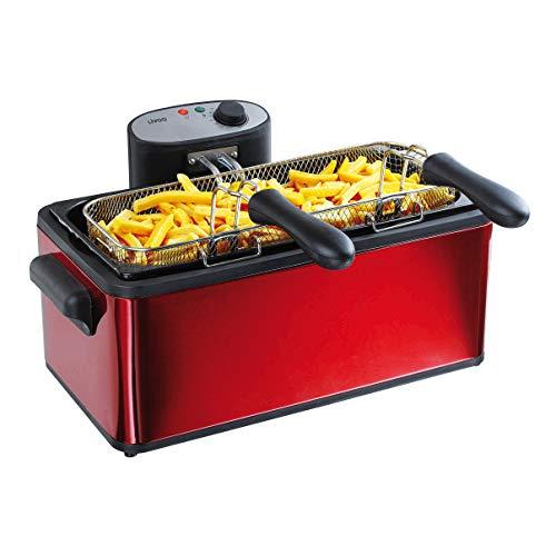 LIVOO, F DOC149 Maxi Friteuse Grande Capacité 6L, Thermostat Ajustable | Entièrement Démontable pour un Nettoyage Facile, Filtre Anti-Graisse | 3000W, 3000 W, 6 liters, Rouge