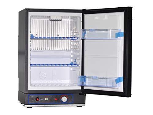 SMAD 40L Tragbarer Gas-Kühlschrank 220V 12V Elektroabsorption Propankühler schwarz (XC-40-2)