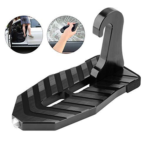 NOCKNOCK Auto Türschwelle Fahrzeug-Multifunktions-Portable hakte U-förmige faltende Fuß-Klammern mit Sicherheit Hammer-Funktion
