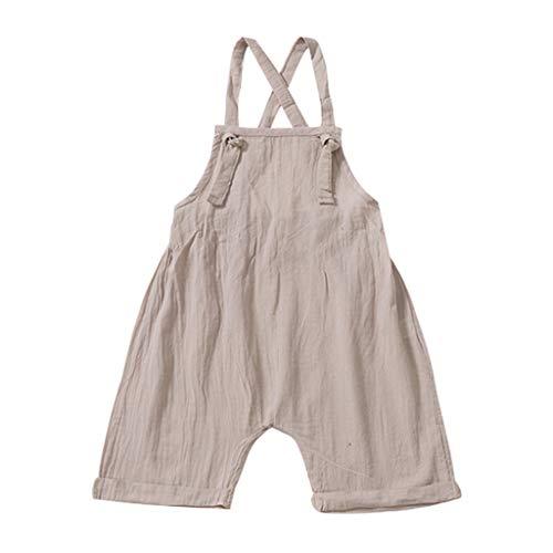 1-3 Jahre Alte Babykleidung, Jungen Body Niedlicher Kind Jumpsuit Baby Schlafanzug(Khaki,6-12 Monate/80)
