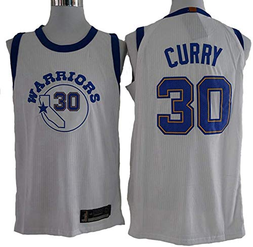 XXMM Camiseta De Baloncesto para Hombre NBA Golden State Warriors # 30 Stephen Curry Jersey, Cómodo/Ligero/Transpirable Malla Bordada Retro Camiseta Sudadera,S(165~170CM)