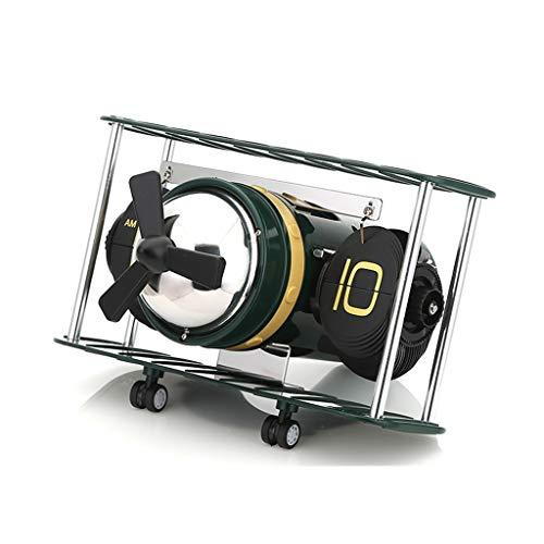 Tafelklok = houderklok zijkant draaien woonkamer decor boekenkast slaapkamer vliegtuig frame huis batterij aangedreven kwarts thuis in de open lucht