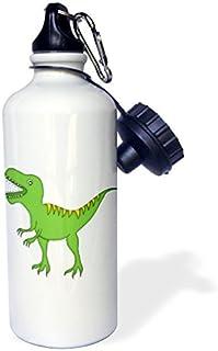 Zhaoshoping Verde y Amarillo Dinosaurio Growling Deportes Botella de Agua Botella de Agua de Acero Inoxidable para Mujeres Hombres niños 400ML