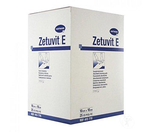 Hartmann Zetuvit E Sterile Absorbent Dressing Pads, 10cm x 10cm by Zetuvit E