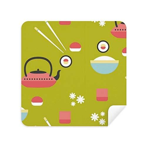 DIYthinker Rice Theepot Cup Sushi Japan Glazen Reinigingsdoek Telefoon Screen Cleaner Suede Stof 2 Stks