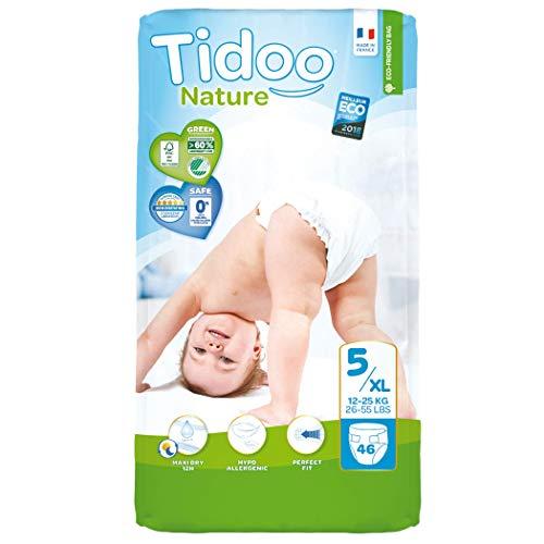 Tidoo 503907 – 46 couches Taille 5 pour enfants de 12 à 25 kg