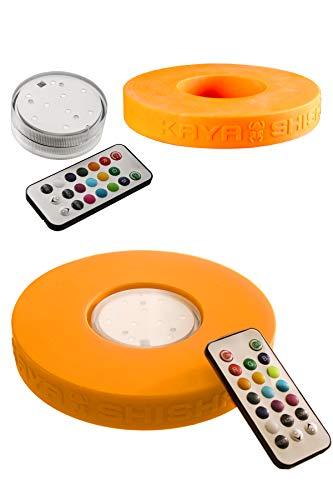 Kaya Shisha - Shisha Led Licht mit Fernbedienung + Silikon Base - Multi Farbwechsel - Batteriebetrieben & Wasserdicht - Als LED Untersetzer oder Unterwasser Licht geeignet - Kaya Shisha Zubehör