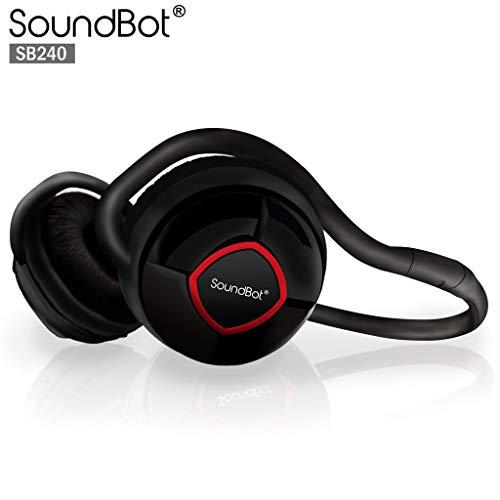 SoundBot SB220 Red Bluetooth Headphone Wireless Headset for Music Streaming & Handsfree Calling