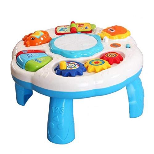 La Tabla del bebé de Aprendizaje Multifuncional Mesa de Juego para niños pequeños con Sonido Colorido Juguete de la luz temprana para la Educación de los Niños