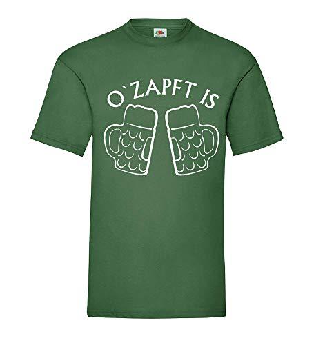 Oktoberfest Jarra de Cerveza o´Grifos en Is Hombre Camiseta - shirt84 - Verde Botella, S