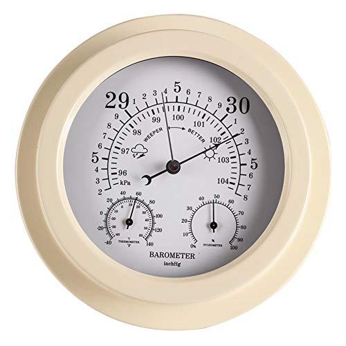 YHDNCG Barómetro, Barómetro doméstico, Barómetro tres en uno, Termómetro, Higrómetro, Barómetro aneroide, Barómetro montado en la pared