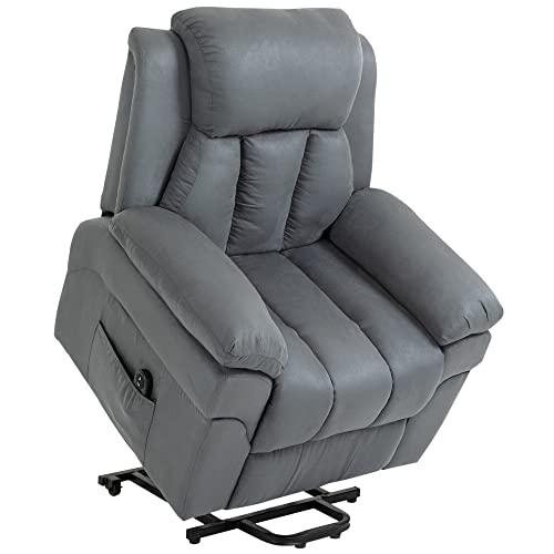 HOMCOM Elektrischer Fernsehsessel Aufstehsessel Relaxsessel Sessel mit Aufstehhilfe, Grau, 96 x 93 x 105 cm