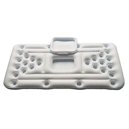 Beer Pong Luftmatratze, Pool Pong Luftmatratzen Aufblasbarer Bierpong Pool mit 28 Tassenlöchern aus Hochdichtem PVC für Außen- Und Watplätze, 180x60cm
