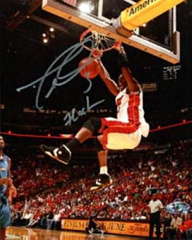 Dwyane Wade Autographed 8x10 Photograph  with Flash Inscription  Autographed NBA Photos