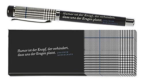 moses. libri_x Tintenroller Ringelnatz | Tintenschreiber mit austauschbarer Blauer Mine | In einer Geschenkschachtel