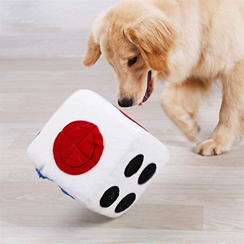 DHGTEP Alfombra para Perros Snuffle Mat Pet Sniffing Dog Smelling Training Interactive IQ Training Colored Dice Shape Pet Accessories (Color : Blanco, Size : 20x20x20cm)