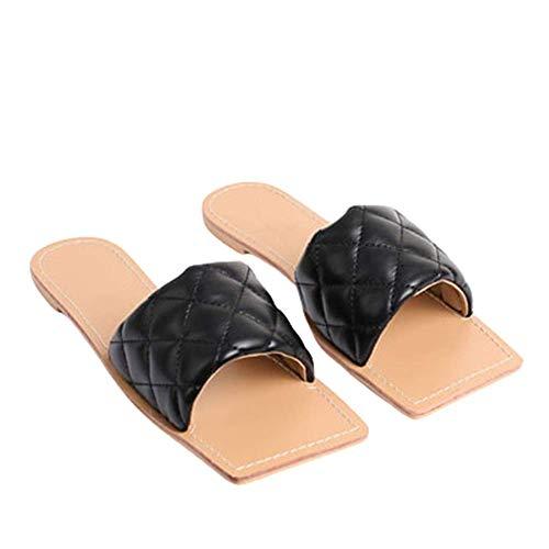 Sandalias Planas Antideslizantes Ligeras Estilo Europeo Estilo Casual Sandalias De Mujer Color Caramelo De Verano Zapatillas En Forma De A Mujer