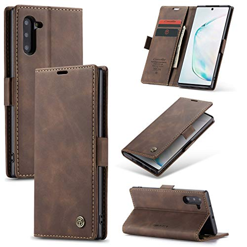 Compatible with Samsung Galaxy Note 10+ Plus Case/Samsung Galaxy Note 10 Plus 5G Wallet Case Cover, Magnetic Stand View Premium Leather Flip Cover Purse Book Style with ID & Credit Card Slots
