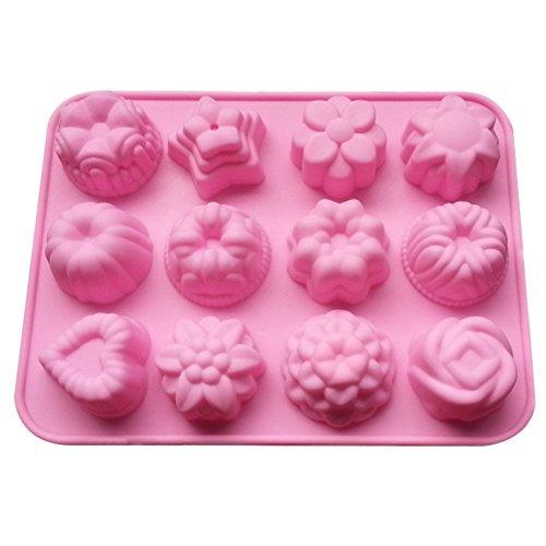 Daorier Moules silicone Petit gâteau en forme de 10 trous DIY Gateaux Jelly Ice Gâteau Chocolat Moules en Silicone 1 PCS