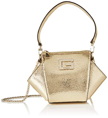 Guess Dinner Date Mini Shoulder Bag, Bags Clutch Donna, Gold, One Size