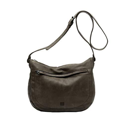 Biba Arkansas 2L Cowhide Leather Handbag Khaki Brown
