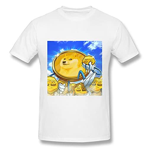 Dogecoin - Camiseta básica de manga corta para hombre (blanco)
