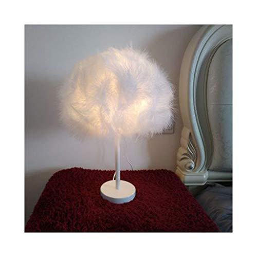 WFL-lámpara de escritorio Lámpara de mesa creativa caliente LED Protección for los ojos partidos pequeños dormitorios pluma lámpara de mesa de noche bar Living Room lámpara decorativa Lámpara de mesa