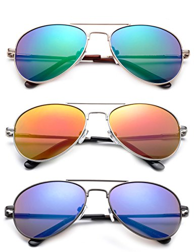 'Sonido' - Kyra Hand Polished Lead Free Fashion Sunglasses with Flash/Mirror Lenses for Kids Ages 1-5 years Old Fashion Accessories