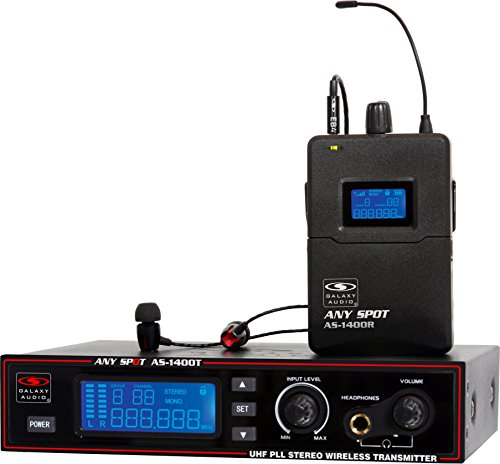 Galaxy Audio AS-1400 Wireless In-Ear Personal Monitor System, Code M (516 MHz - 558 MHz)