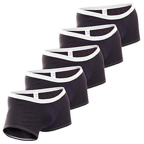 NBN (NoBrandName) Herren Boxershorts eng anliegend, 5erPack schwarz-weiß, Bequeme Slim fit Baumwoll Unterhose, Made in Germany