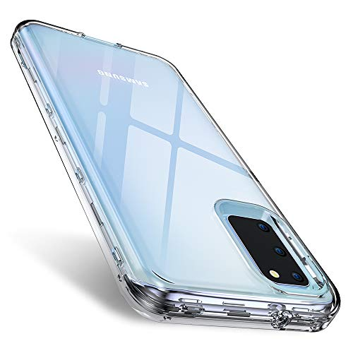 Samsung Galaxy S20 Case Clear 6.2 inch 2020, FLOVEME 3 in 1 Hybrid Duty Shockproof Protection Samsung S20 Case Armor Tough Basic Phone Case for Samsung S20 5G Case Cover Accessories for Girls and Boys