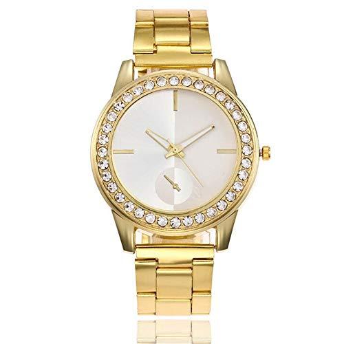 ZSDGY Reloj para Mujer con Correa de Acero aleado, Reloj de Cuarzo Simple a Escala Completa B