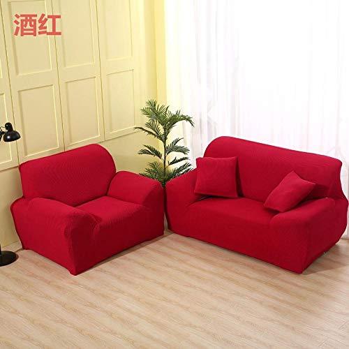Bankovertrek van maïswol, elastische bankovertrek in combinatie van stof, beschermende overtrek voor meubels voor thuis.