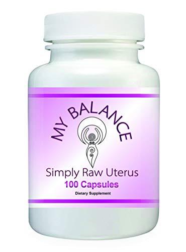 Simply Raw Uterus Glandular for Women's Health. Raw Bovine Uterus Glandular 100 Capsules for Hormonal Support.