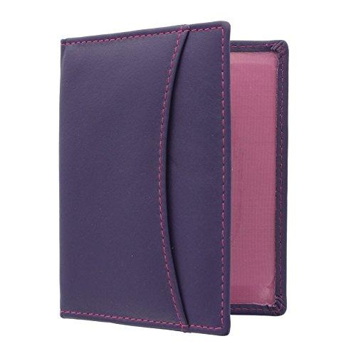 Mala Leather Odyssey Portatarjeta de Viaje de Cuero Suave 555_14 Púrpura