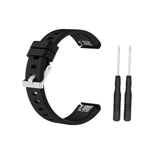 Meiruo 22mm Larghezza,Quickfit Cinturino per Garmin Fenix 5/Garmin Quatix 5/Garmin Quatix 5 Sapphire/Garmin Approach S60/Garmin Forerunner 935 (Nero)