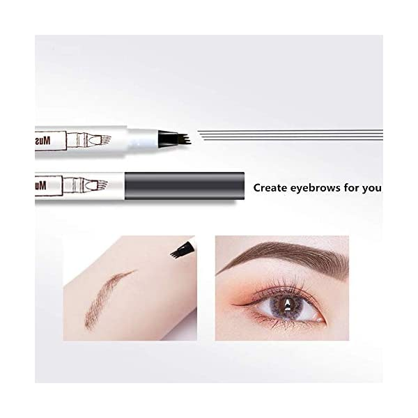 Beauty Shopping Eyebrow Pen,MoonKong Eyebrow Pencil Waterproof Brow Pen Eyebrow Makeup with a Micro-Fork