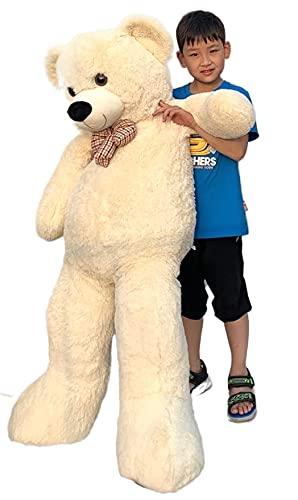 Lee's Brothers 120cm / 47 Inch Cream Plush Teddy Bear, Soft Large Stuffed Animal, 3 Sizes/Colors Option