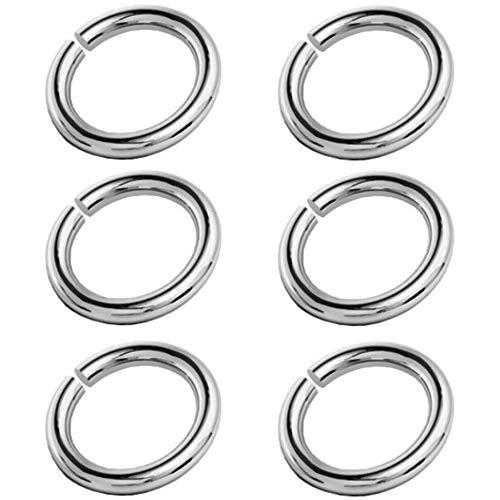 My-Bead 6 Stück Binderinge Biegeringe Ø 3mm 925 Sterling Silber für Schmuckherstellung Juweliers- Qualität DIY