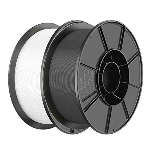 PLA Filament 1.75mm 3D Printer Consumables Filamento Impresora 3D, Dimensional Accuracy +/- 0.05 mm [Black,White]