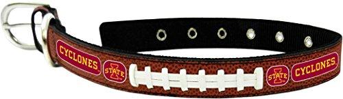 GameWear CFB Iowa State Cyclones Classic Leather Football Collar, Small, Black